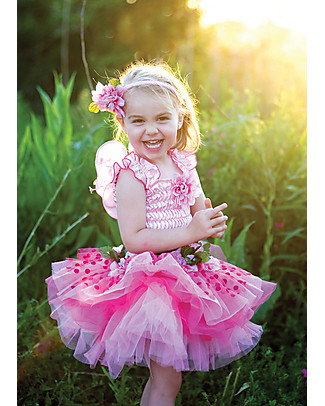 Great Pretenders Fairy Blooms Deluxe Fancy Dress, Pink - Includes dress, wings and headband Dressing Up & Role Play