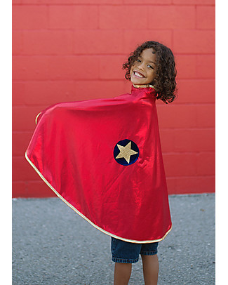 Great Pretenders Reversible Wonder Cape, Gold/Red - Double fun! null