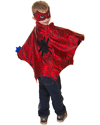 Great Pretenders Spider Costume Set - Includes cape, mask and cuffs Dressing Up & Role Play