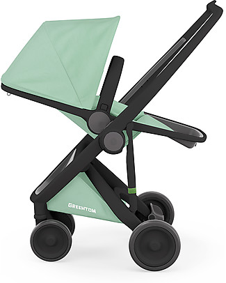 Greentom Greentom Reversible + Fabric - Black Frame & Mint Seat - Eco-friendly & Recyclable! Pushchairs
