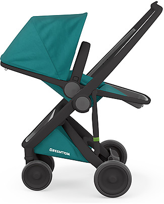 Greentom Greentom Reversible + Fabric - Black Frame & Teal Seat - Eco-friendly & Recyclable! Pushchairs