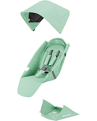 Greentom Greentom Reversible Fabric Set, 6+ months - Mint Stroller Accessories
