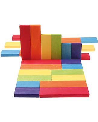 Grimm's 30 Colour Charts - For Bluid the World! Wooden Blocks & Construction Sets
