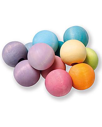 Grimm's Beads Grasper, Pastel Color - Safe fun for babies Montessori Toys