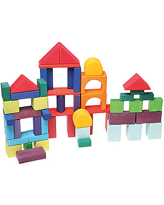 Grimm's Building Geo-Blocks - 60 pieces - Create colourful sculptures! Building Blocks