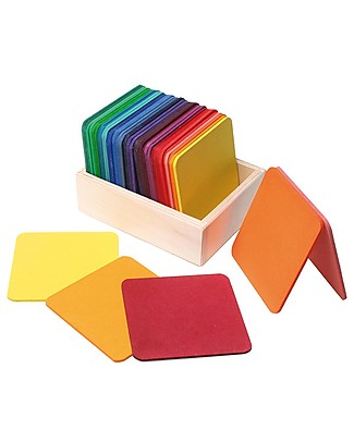 Grimm's Colourful Squared Mat Game Wooden Stacking Toys
