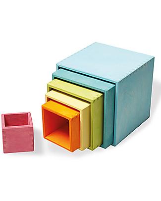 Grimm's Multipurpose Toy Set of Large Boxes, pastel colour - 6 piaces Montessori Toys