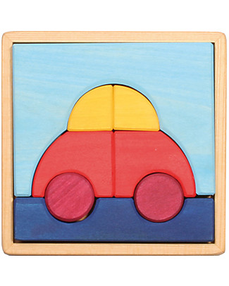 Grimm's Puzzle Car, Colorful - 8 pieces Puzzles