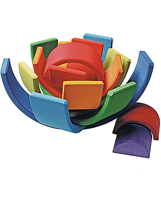 Grimm's Rainbow Sunset Tunnel - 10 pieces! 30 cm Building Blocks