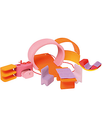 Grimm's Wooden Mobile Home, Pink-orange Wooden Blocks & Construction Sets