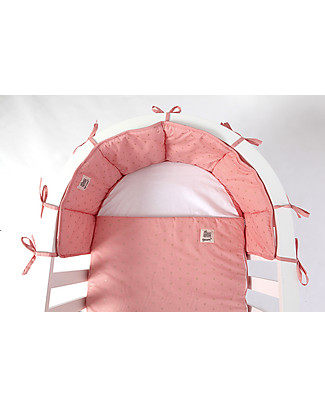Guum Barcelona Bumper Plus for Miniguum Crib, Pink Bumpers