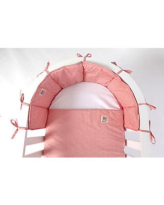 Guum Barcelona Bumper Plus for Miniguum Crib, Pink Bumpers