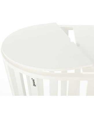 Guum Barcelona Coverguum, White – Lid to covert Miniguum crib in coffee table or toy box Cribs & Moses Baskets