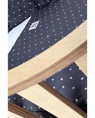 Guum Barcelona Fitted sleeping bag Plus for Miniguum Crib, Grey - It perfectly fits the crib! Warm Sleeping Bags