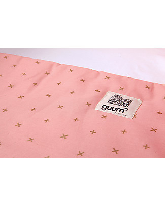 Guum Barcelona Fitted sleeping bag Plus for Miniguum Crib, Pink - It perfectly fits the crib! Warm Sleeping Bags