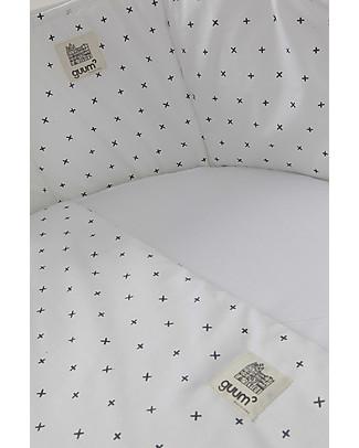 Guum Barcelona Fitted sleeping bag Plus for Miniguum Crib, White - It perfectly fits the crib! Duvet Sets
