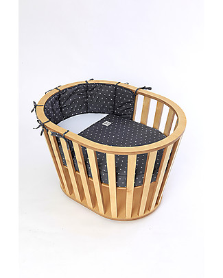 Guum Barcelona Miniguum, Transformable Wooden Crib, Natural – Becomes a playpen or table! Cribs & Moses Baskets