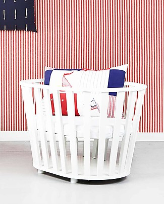 Guum Barcelona Miniguum, Transformable Wooden Crib, White – Becomes a playpen or table! Cribs & Moses Baskets