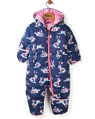 Hatley Baby's Winter Puffer All-in-one, Bunny Hop (the perfect winter pramsuit!) Snowsuits