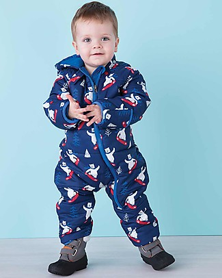 Hatley Baby's Winter Puffer All-in-one, Snowing Polar Bear (the perfect winter pramsuit!) Snowsuits