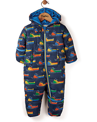 Hatley Baby's Winter Puffer All-in-one, Vintage Snowmobiles (the perfect winter pramsuit!) Snowsuits