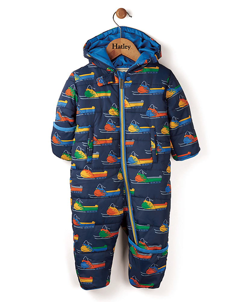 Hatley Baby's Winter Puffer All-in-one, Vintage Snowmobiles