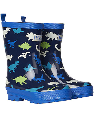 Hatley Boy Shiny Rain Boots, Dino Herd Wellies