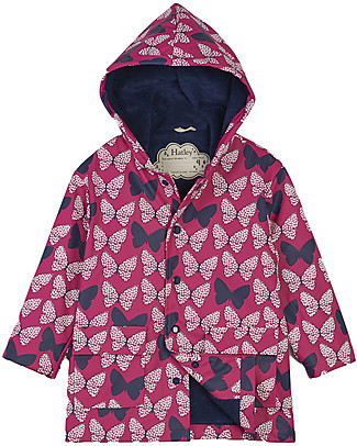 Hatley Colour Changing Raincoat, Butterflies - Hooded, Lined and PVC-free Jackets