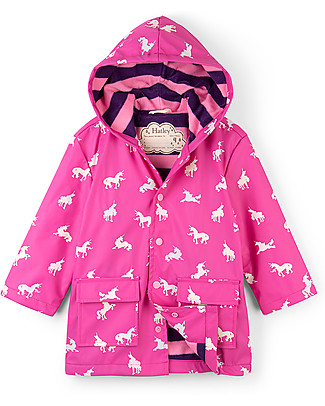 Hatley Colour Changing Raincoat, Unicorn - Hooded, lined and PVC-free Coats