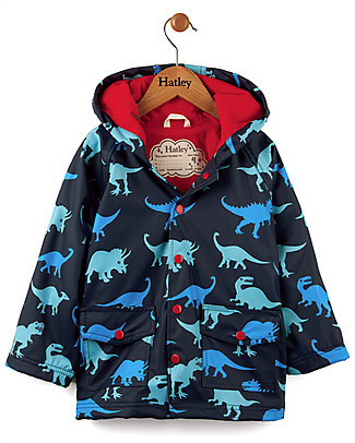 Hatley Dino Shadows Boys Raincoat - Hooded, lined and PVC-free Coats
