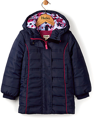 Hatley Fitted Puffer Coat, Navy Jackets