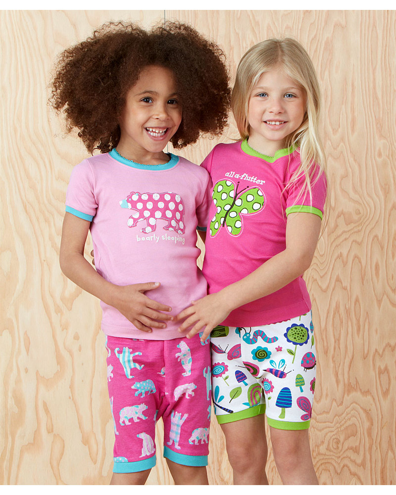 """Hatley Girls Short Pyjama Set - """"All a Flutter"""" - 100% cotton Pyjamas a4d451d3b"""