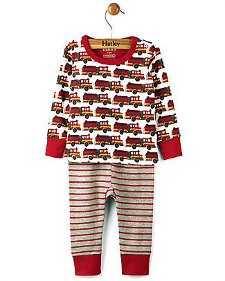Hatley Long Sleeve Baby Pyjamas Set, Fire Trucks - 100% cotton Pyjamas