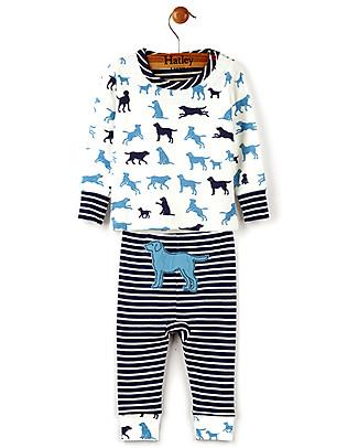 Hatley Long Sleeve Baby Pyjamas Set, Pup Play - 100% cotton Pyjamas