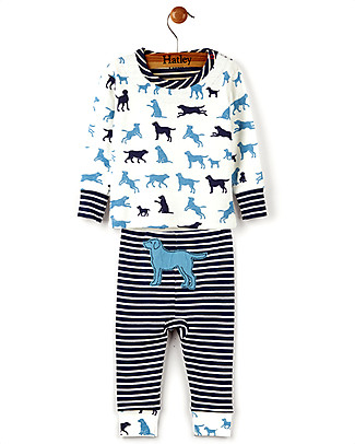 Hatley Long Sleeve Baby Pyjamas Set, Pup Play - 100% Organic cotton Pyjamas