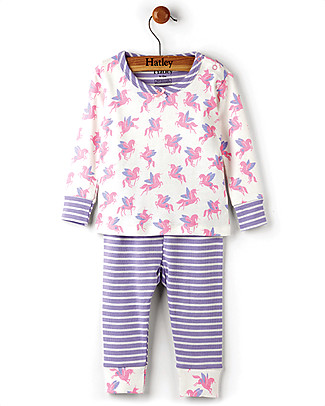 Hatley Long Sleeve Baby Pyjamas Set, Winged Unicorns - 100% Organic cotton Pyjamas