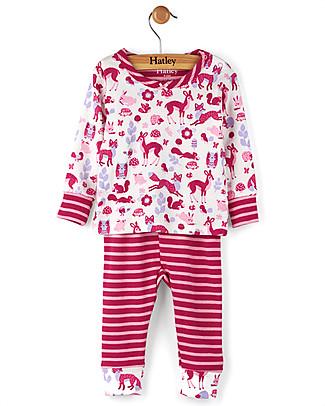 Hatley Long Sleeve Baby Pyjamas Set, Woodland Tea Party - 100% cotton Pyjamas