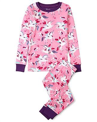 Hatley Long Sleeve Pajamas Set, Winged Unicorns - 100% cotton Pyjamas