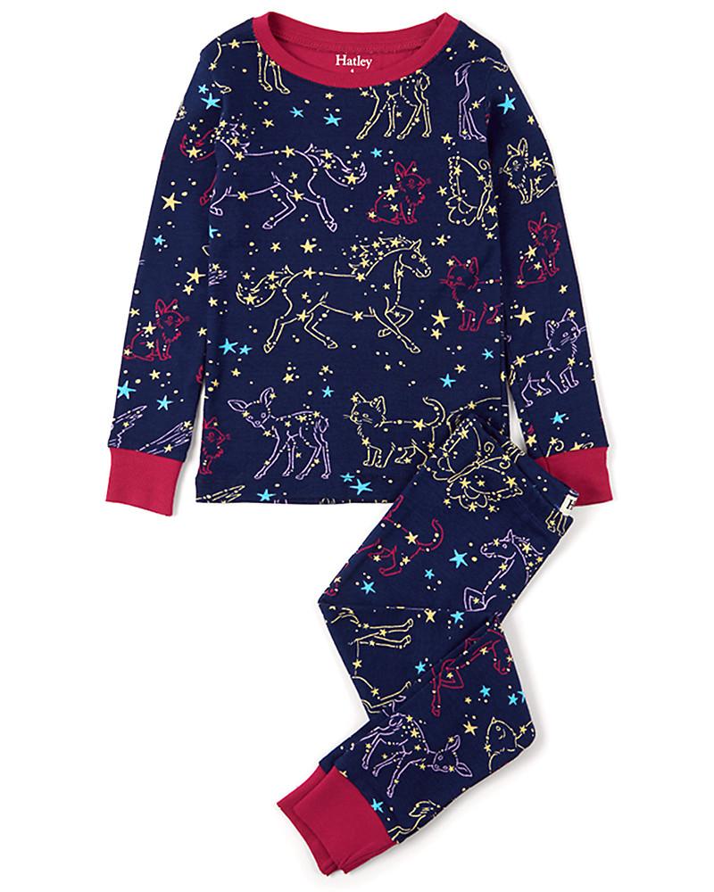 1e29a1f49a5742 Hatley Long Sleeve Pyjama Set, Celestial Night - 100% Organic cotton Pyjamas