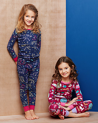 Hatley Long Sleeve Pyjama Set, Celestial Night - 100% Organic cotton Pyjamas