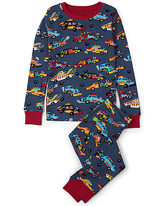 Hatley Long Sleeve Pyjama Set, Monster Cars - 100% Organic cotton Pyjamas