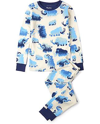 Hatley Long Sleeve Pyjamas Set, Woolly Mammoths - 100% cotton Pyjamas