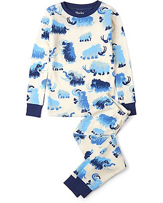 Hatley Long Sleeve Pyjamas Set, Woolly Mammoths - 100% Organic cotton Pyjamas