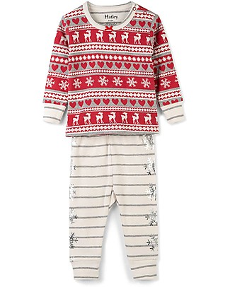 Hatley Long Sleeves Applique Baby Pajama Set, Fair Isle Fawn - 100% organic cotton null