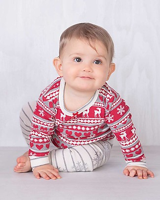 Hatley Long Sleeves Applique Baby Pajama Set, Fair Isle Fawn - 100% organic cotton Pyjamas