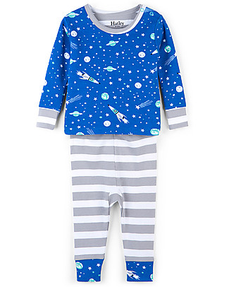 Hatley Long Sleeves Applique Baby Pajama Set, Outer Space - 100% organic cotton null