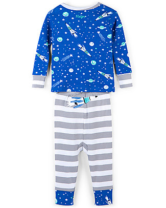 Hatley Long Sleeves Applique Baby Pajama Set, Outer Space - 100% organic cotton Pyjamas