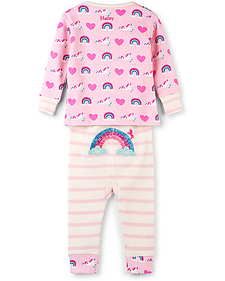 Hatley Long Sleeves Applique Baby Pajama Set, Unicorns & Rainbows - 100% organic cotton Pyjamas