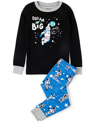 Hatley Long Sleeves Applique Pajama Set, Dream Big - 100% organic cotton Pyjamas