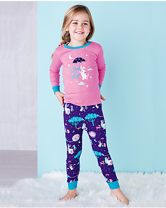 Hatley Long Sleeves Applique Pajama Set, Falling to Sleep - 100% organic cotton Pyjamas